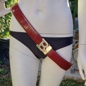❤❤❤Authentic Bally  B Buckle Patent Leather